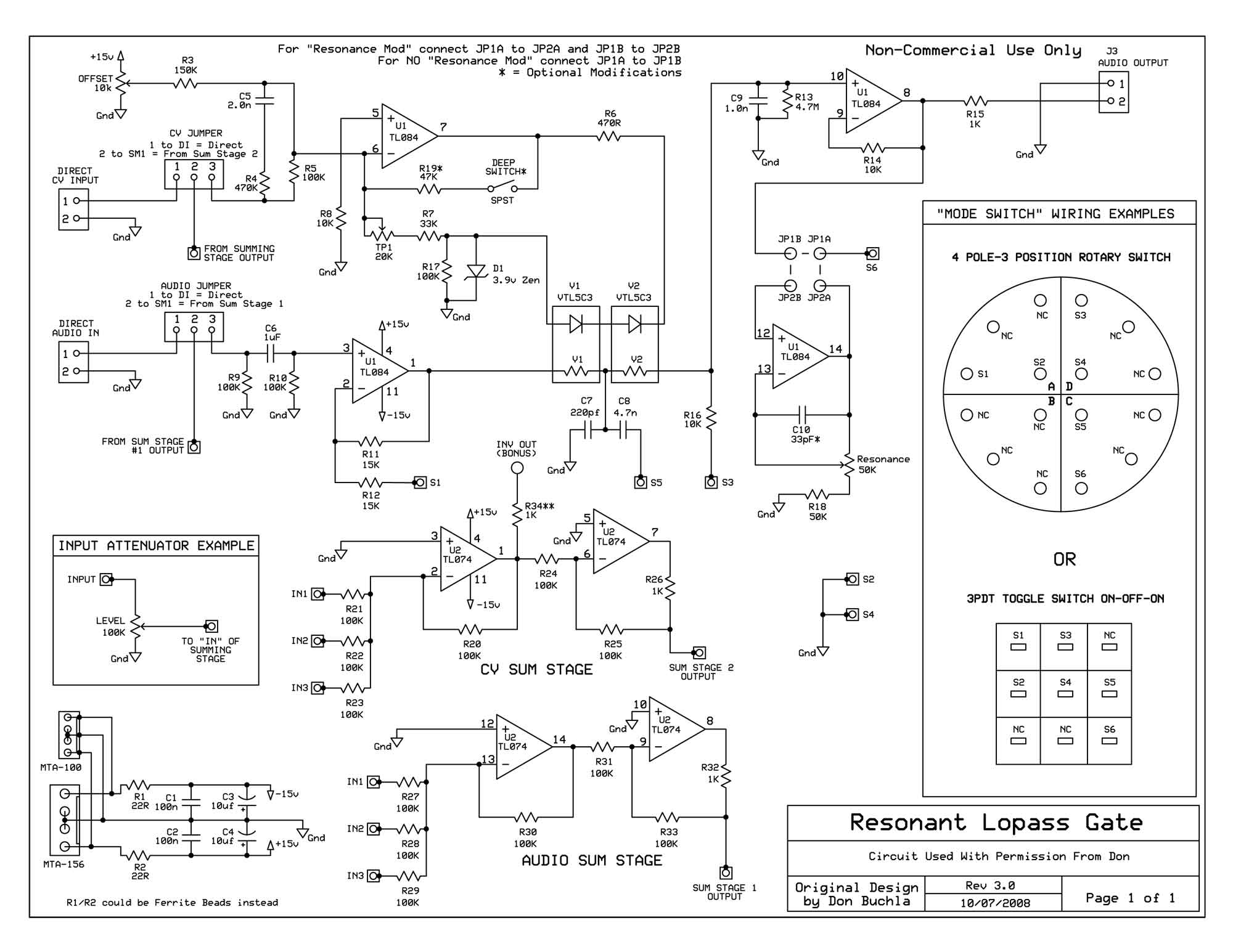 Dragonfly Alley Motm Synthesizer Buchla 292c Lopass Gate Construction Trim Pot Wiring Diagram Background
